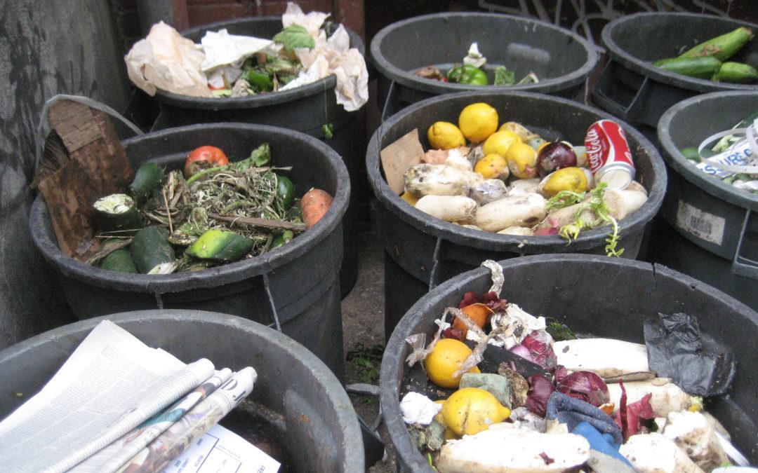 De voedselketen van verspilling