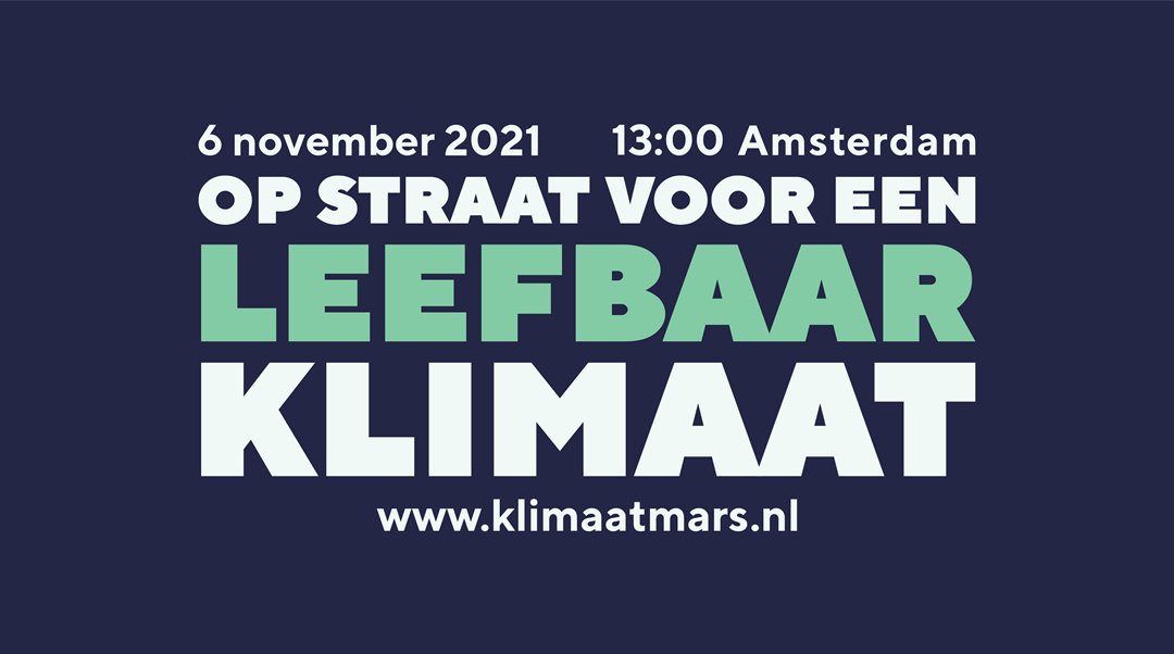 6 november: Klimaatmars Amsterdam